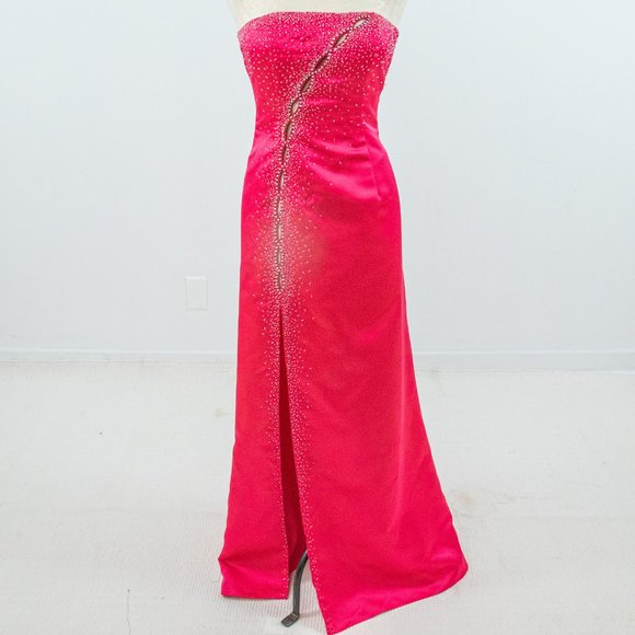 vintage 90s pink purple fuchsia formal dress